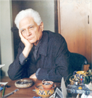 Jacques Derrida, a French philosopher