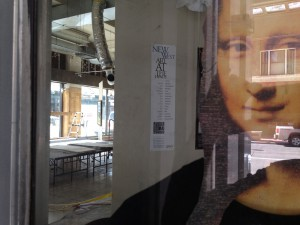 Mona Lisa on a Poster of an empty new art space