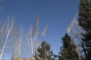 Aerovane Sculpture by Steuart Bremner and Terry Talty installed in Aspen March 2013, at the Red Brick Art Center.