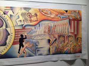 The Fall, from the Holocaust Project, Judy Chicago, 1987, from the show Surveying Judy Chicago, Redline, Denver, 2014