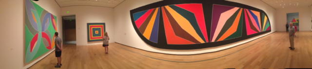 panorama image of the Stella Retrospective at