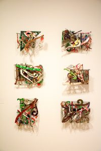 set of six sculpture maquettes by Frank Stella
