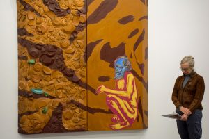 "Schnabel painting called ""Aboriginal Painting"" as seen at the Aspen Art Museum"
