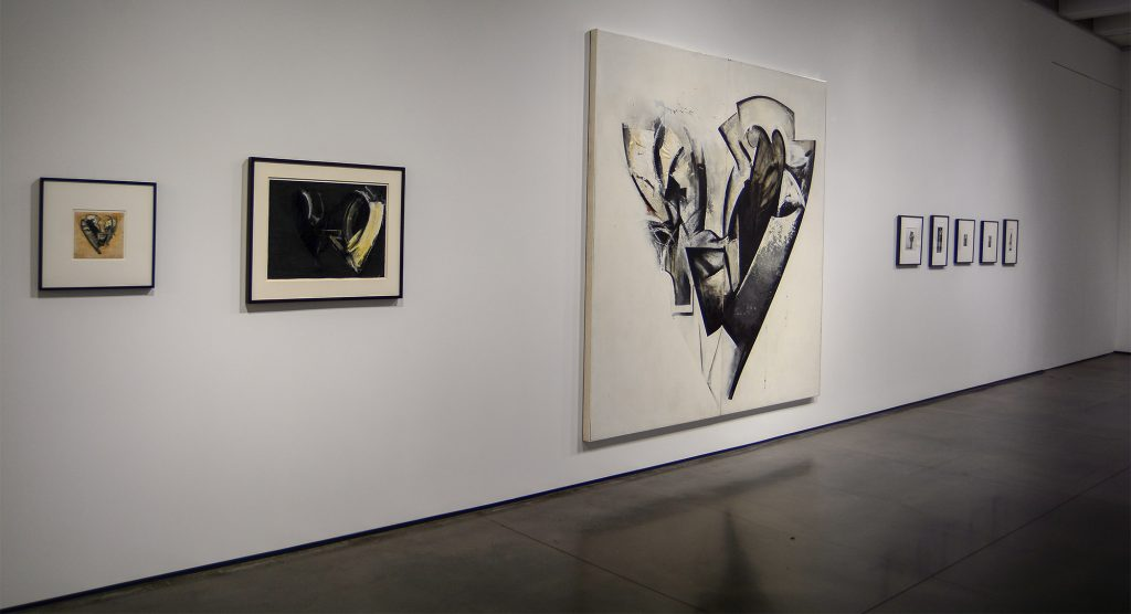 South wall of the exhibition of Jay DeFeo work at Aspen Art Museum