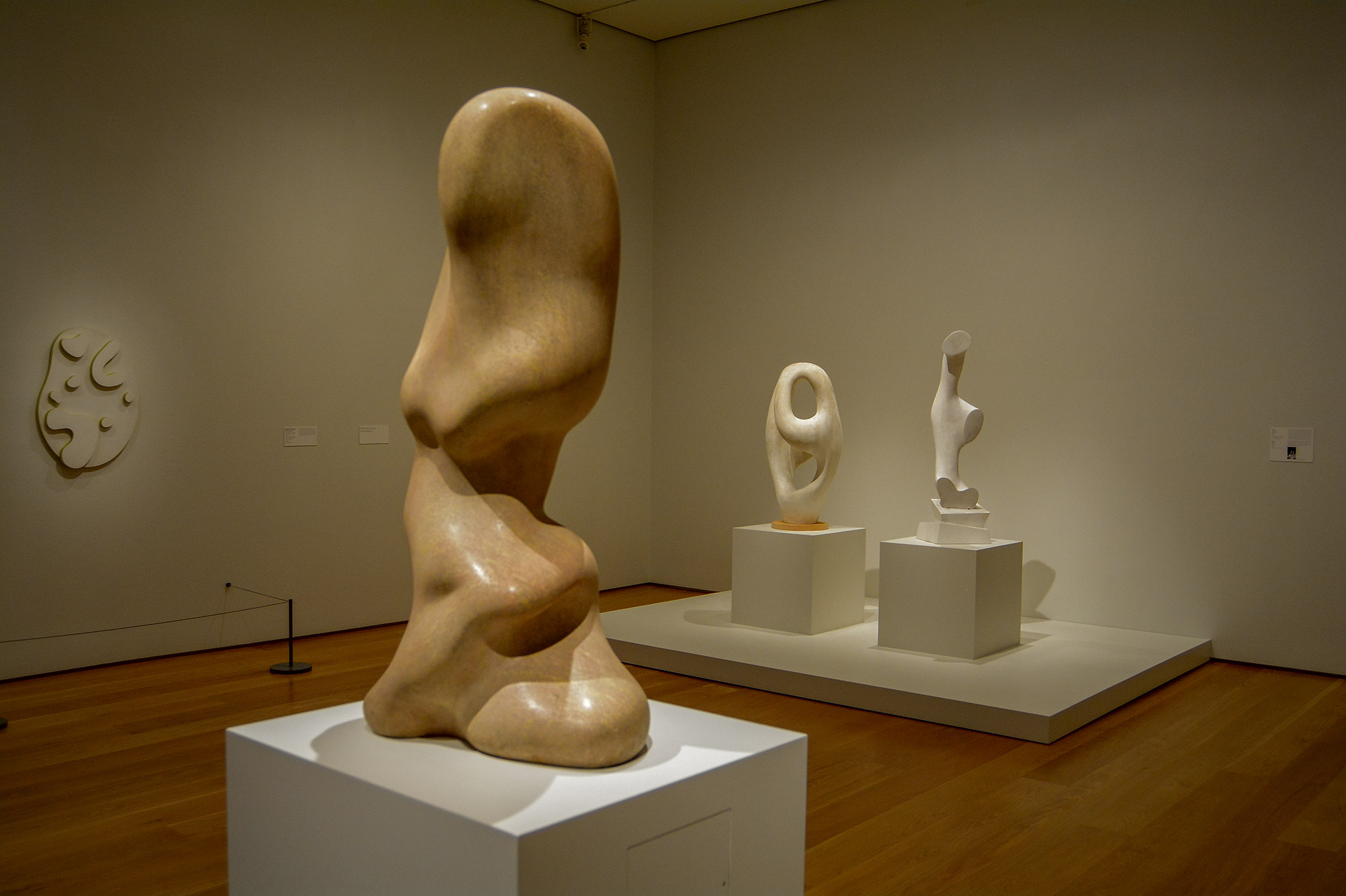 Arp Sculpture, Ptolomy, then a fragment of it called Daphne, another piece and the yellow wall piece