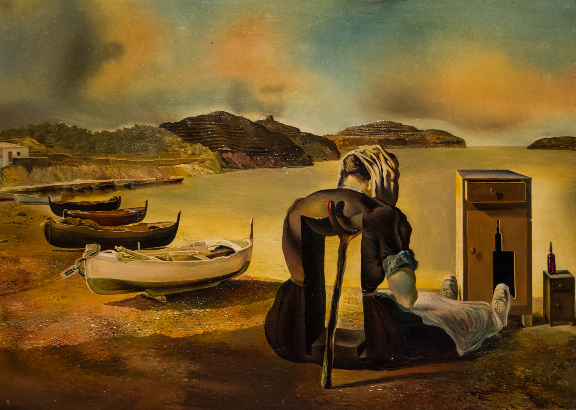 Salvador Dali painting, The Weaning of Furniture-Nutrition 17.8 x 24.1 cm