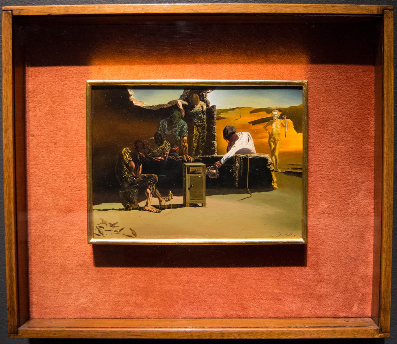 Salvador Dali painting, Cardinal, Cardinal!: 1934, in frame