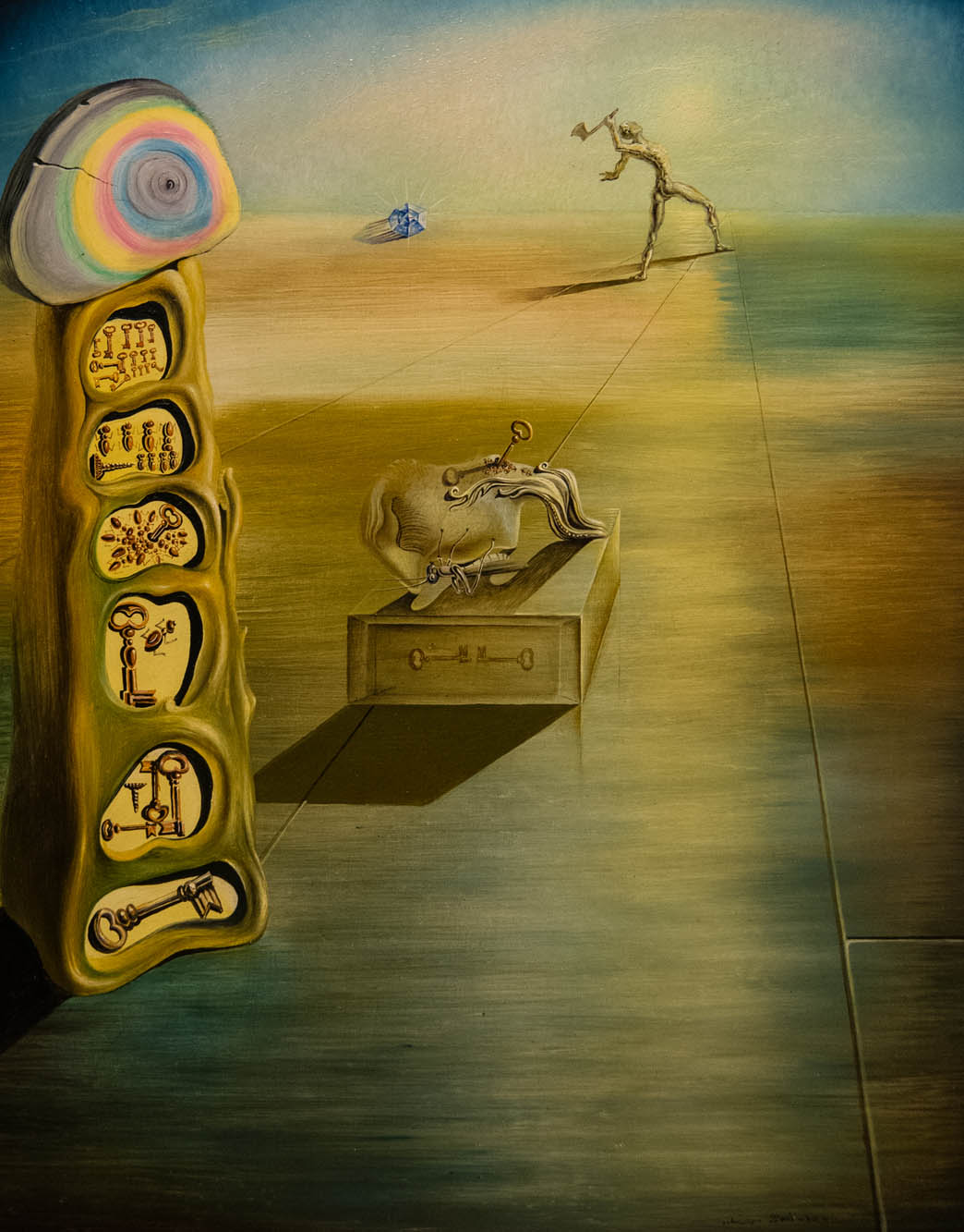 Salvador Dali painting, The Free Inclination of Desire