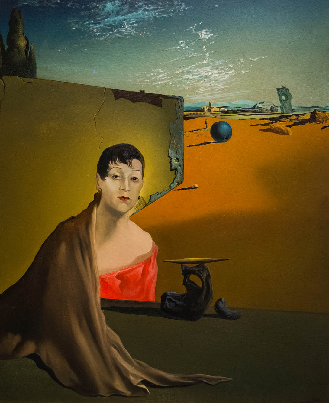 Salvador Dali painting, Portrait of Madame Ducas, 1935 41.2 x 33 cm