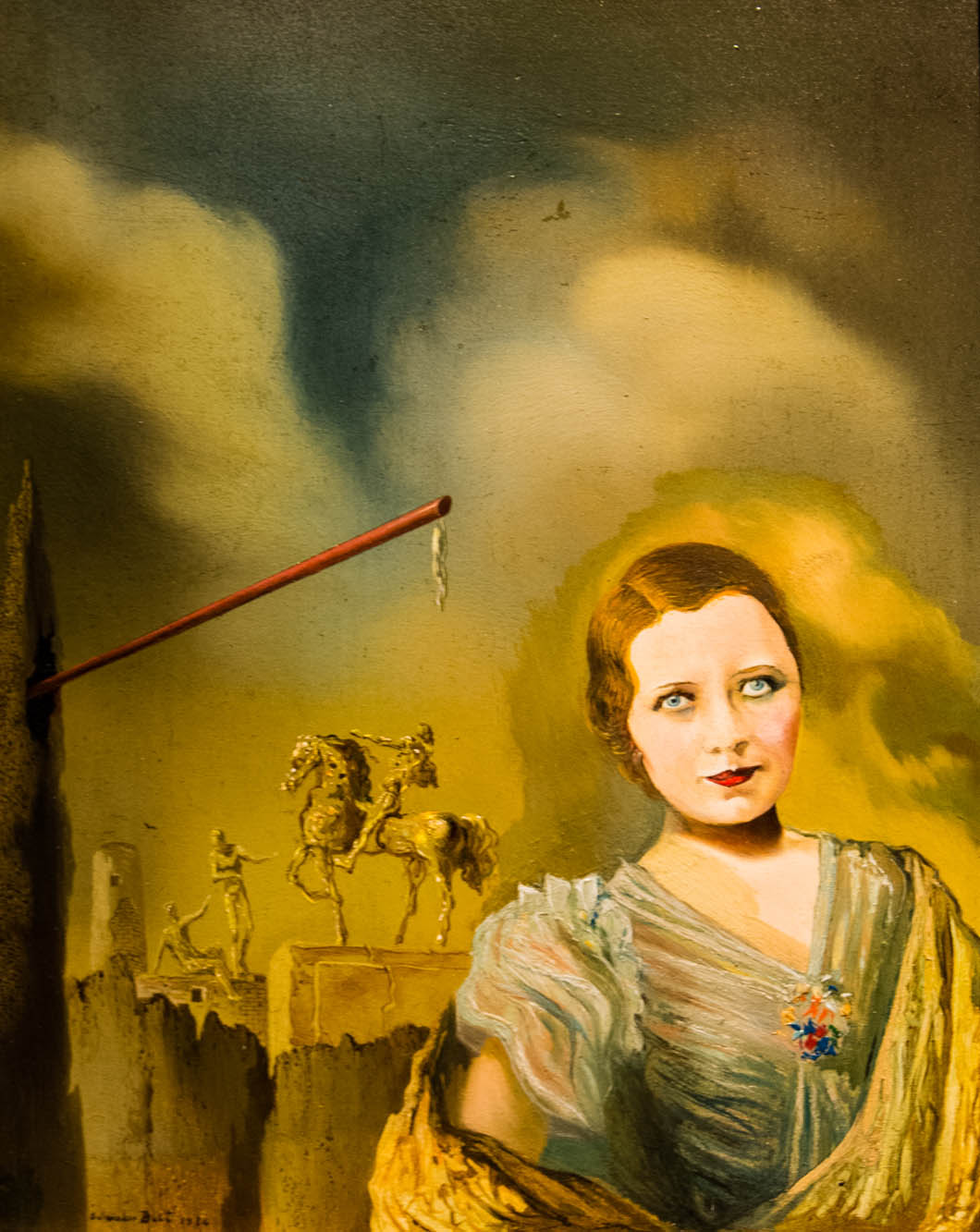 Salvador Dali painting, Portrait of a Woman: 1934
