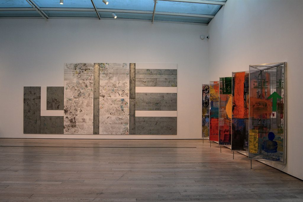 Two nice sections of the 1/4 mile painting by Robert Rauschenberg